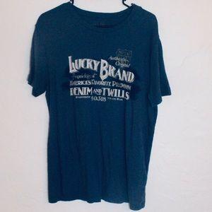 Lucky Brand graphic blue short sleeve t-shirt